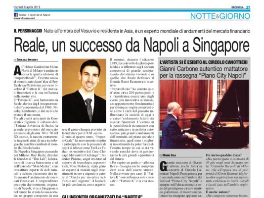 Roy e ImpattoReale su Roma - Il Giornale di Napoli