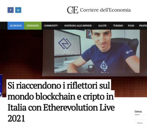 EthLIVE 2021 -Il Corriere dell'economia